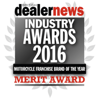 Motorcycle brand of the year merit award 2016