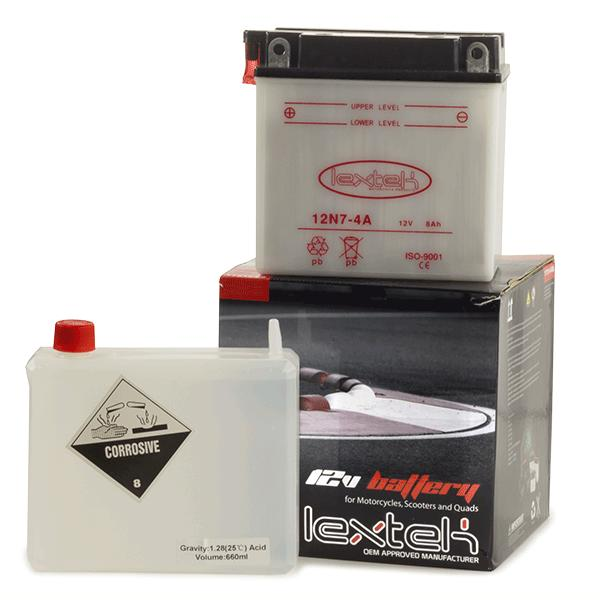 Lextek Motorcycle Battery 12N7-4A
