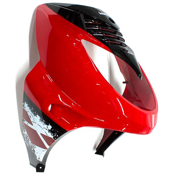 Headlight Panel Gloss Red/Gloss Black with 2K10 Decal