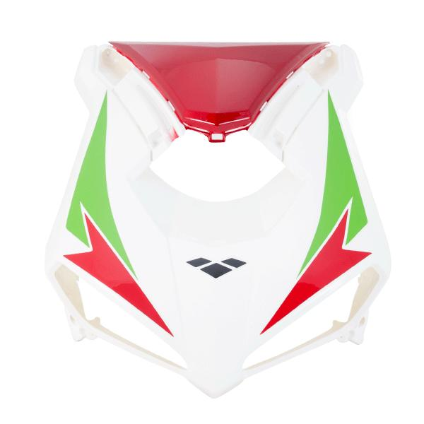 Headlight Panel White/Red
