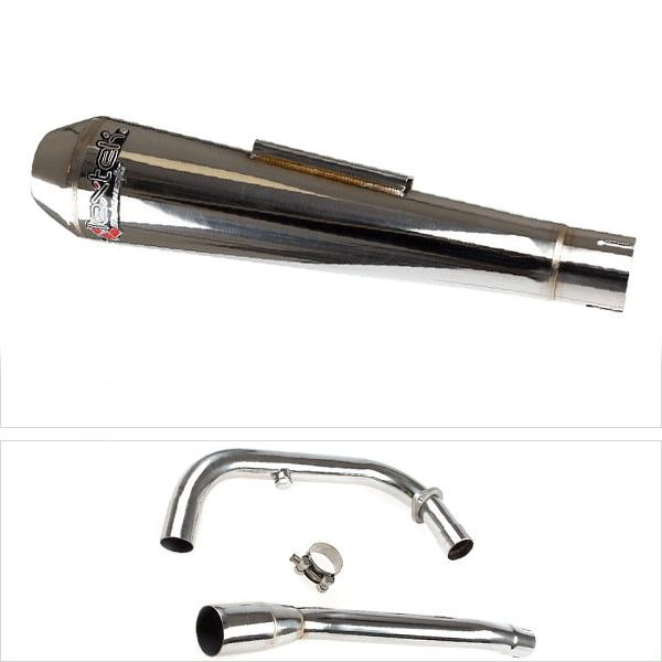 Lextek AC1 Polished Classic Slip On Exhaust System