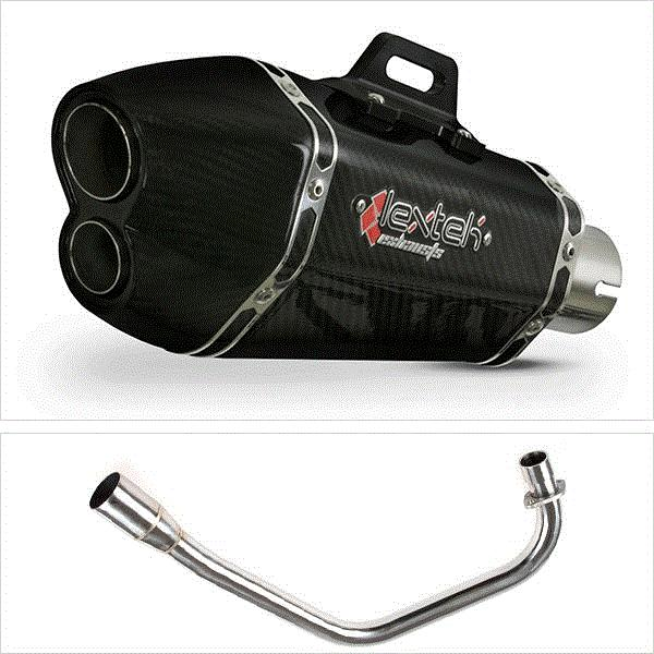 Lextek XP13C Carbon Fibre Hexagonal Exhaust System