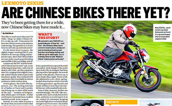 Are chinese bikes there yet?