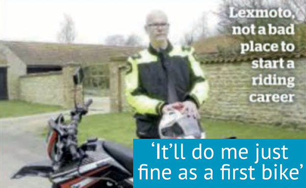 Lexmoto Adrenaline 125: First Bike