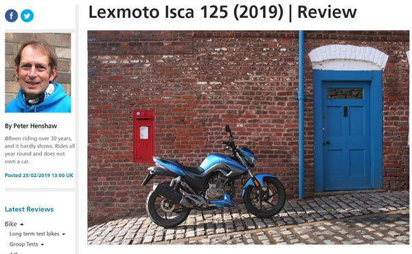 Bennetts Lexmoto Isca 125cc Review