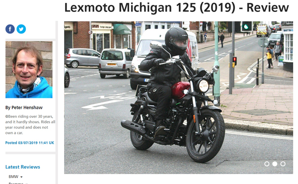 Bennetts Lexmoto Michigan 2019 review