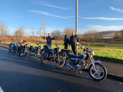 Lexmoto Adventure Club Fife to Ayr - Sons of Harmony 125crew